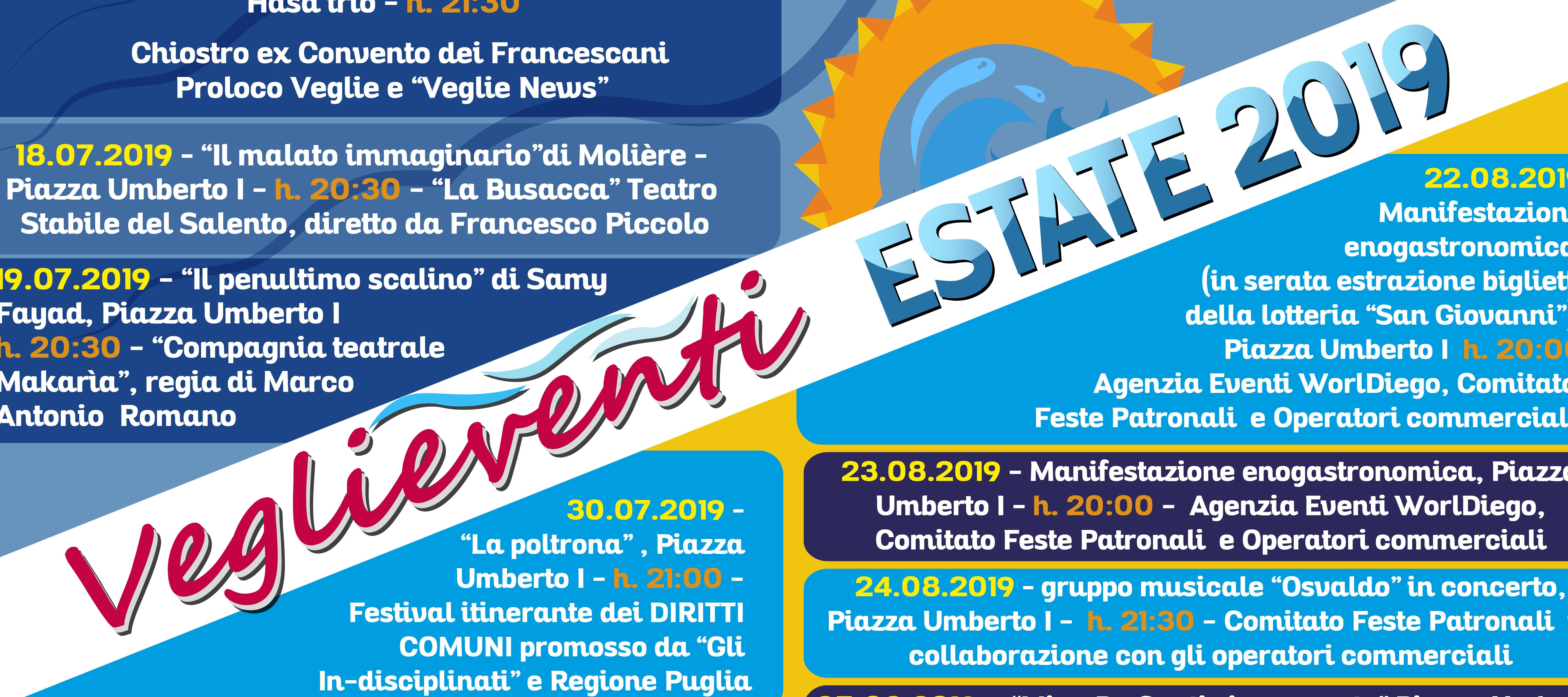 Calendario Feste Patronali Puglia.Controvoci 2 0 Calendario Veglieventi 2019 Tutti Gli